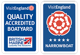 Quality Accredited Boatyard - Visit England Narrowboat